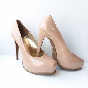 Simply Vera Wang nude blush platform heels